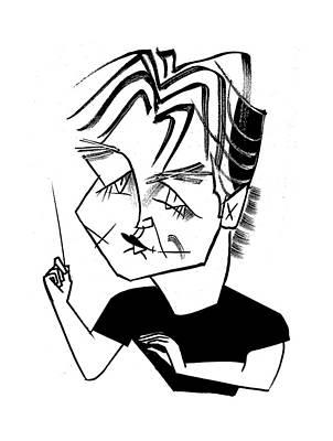 Pekka Wall Art - Drawing - Esa-pekka Salonen Cal Perf by Tom Bachtell