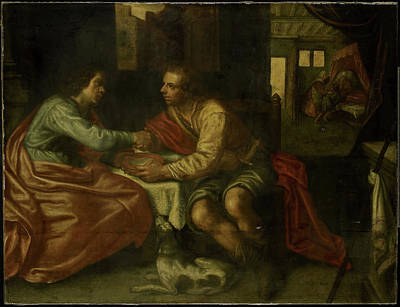 Esau Selling His Birthright, Copy After Paulus Moreelse Art Print by Litz Collection