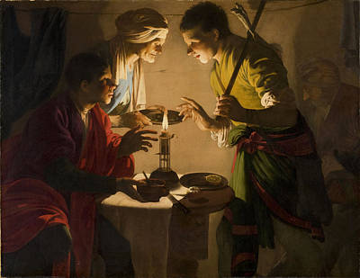 Painting - Esau Selling His Birthright by Hendrick ter Brugghen