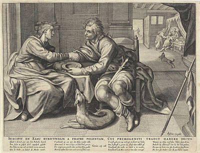 Esau Sells His Birthright To Jacob Art Print by Willem Isaacsz. Van Swanenburg And Paulus Moreelse