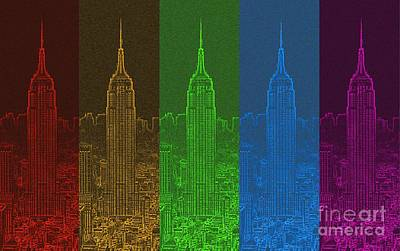 Esb Spectrum Art Print by Meandering Photography