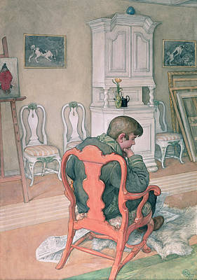 Sit-ins Painting - Esbjorn Convalescing by Carl Larsson