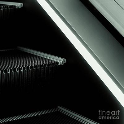 Escalator 04 Print by Noir Blanc