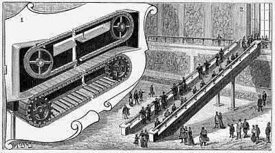 Escalator Art Print by Universal History Archive/uig