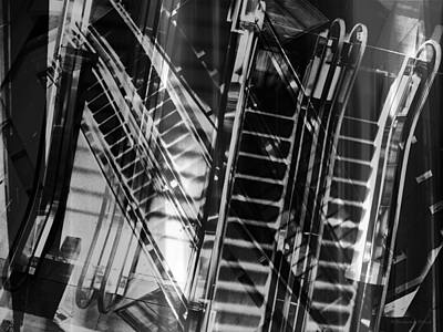 Photograph - Escalators by Shawna Rowe