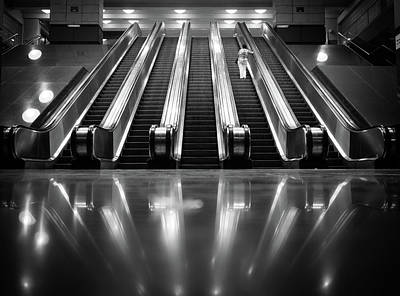 Photograph - Escalators by Thomas Leuthard
