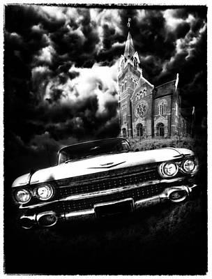 1950 Movies Digital Art - Escape From Chapel Doom by Stephen Hooker
