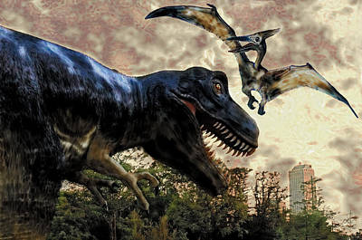 Digital Art - Escape From Jurassic Park by Pennie  McCracken