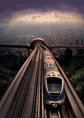 Photograph - Escape From The City With One Way Ticket by Radoslav Nedelchev