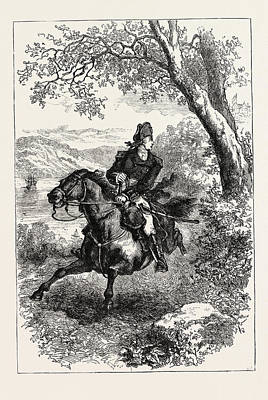 Escape Of Benedict Arnold, 1740-1801 Art Print by English School