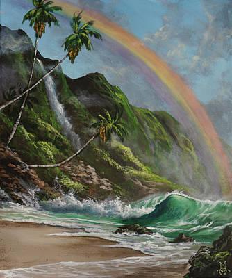 Escape To Paradise Art Print by Marco Antonio Aguilar