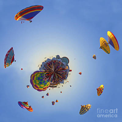 Hot Air Balloon Photograph - Escape Velocity by Gary Holmes