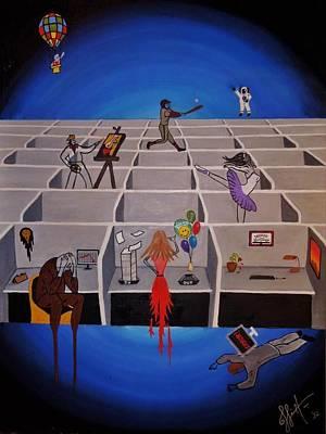 Cubicle Painting - Escape Your Soul  by Jahaziel Linare