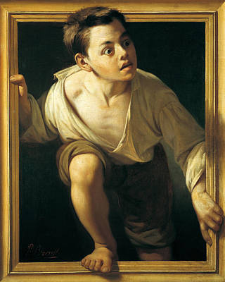 Excitement Painting - Escaping Criticism by Pere Borrell Del Caso