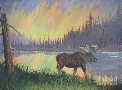 Escaping The Yellowstone Fires Art Print