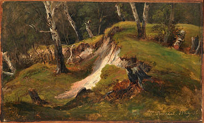 Painting - Escarpment With Tree Stumps Romsdal by Thomas Fearnley