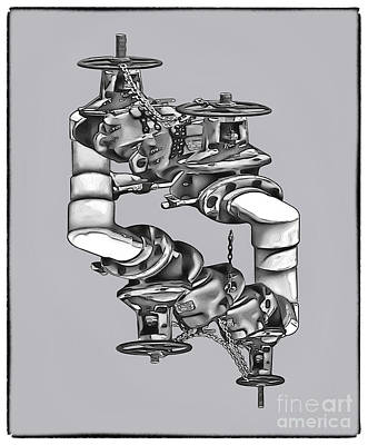 Photograph - Escher-like Plumbing by Walt Foegelle