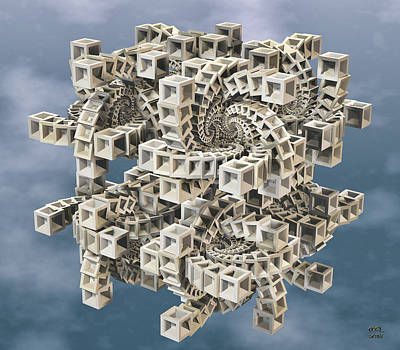 Digital Art - Escher's Construct by Manny Lorenzo