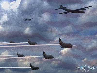 Fighter Jets  Art Print by Michael Rucker