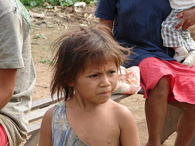 Photograph - Ese Eja Child by Lew Davis