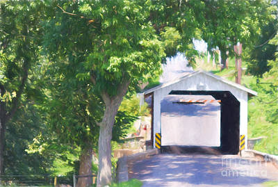 Eshelman's Mill Bridge Art Print by Terry Weaver