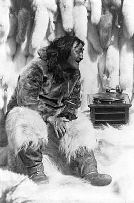 Nanook Photograph - Eskimo And Phonograph by Granger