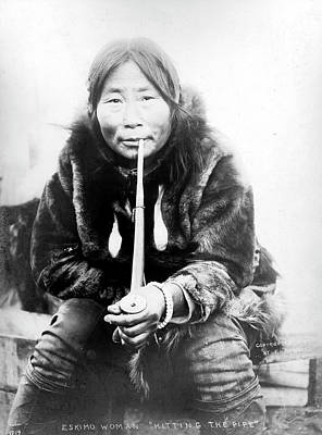 Photograph - Eskimo Woman In Alaska by Granger