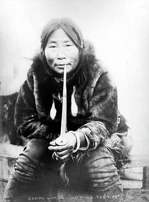 Photograph - Eskimo Woman In Alaska by Granger