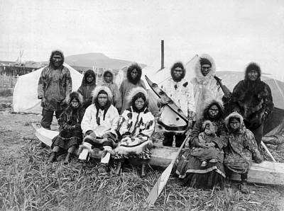 Photograph - Eskimos At The Penny River by Underwood Archives
