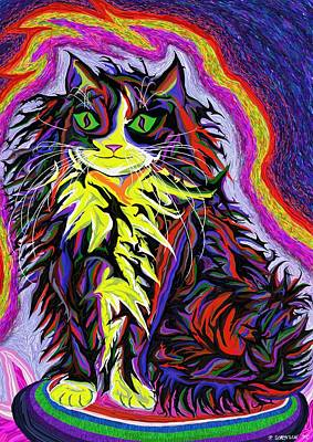Painting - Espacekatt  by Robert SORENSEN