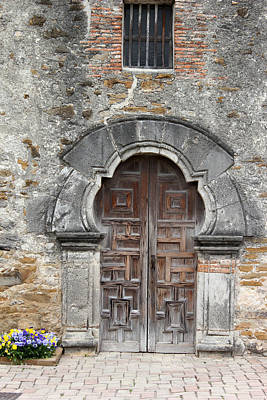 Photograph - Espada Doorway by Mary Bedy
