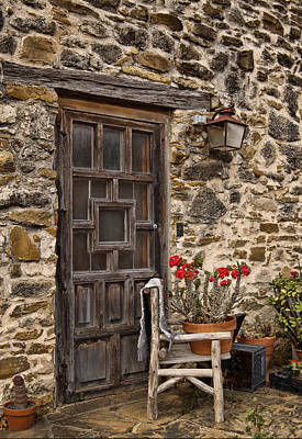 San Antonio Wall Art - Photograph - Espada Mission Door by David and Carol Kelly