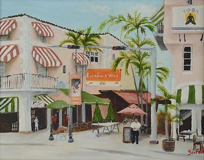 Espanola Painting - Espanola Way South Beach Florida by Stefon Marc Brown