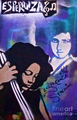 Conscious Painting - Esperanza Spalding 3 by Tony B Conscious