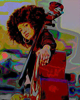 Esperanza Spalding Original by  Fli Art