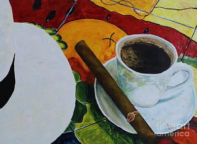 Espresso Painting - Espesso Cigar by Raul Gomez