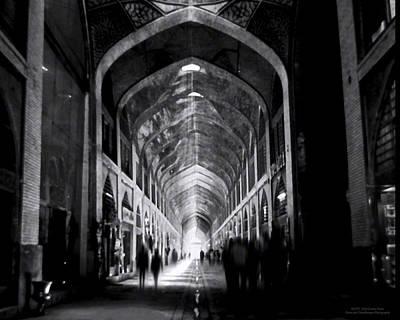 Isfahan Bazar Timewarp By Denise Dube Art Print