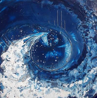 Wyland Painting - Espirit De L'eau Des Dauphins by Danita Cole