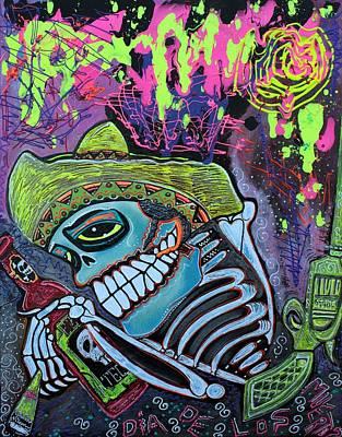 Gun Painting - Espiritu Del Tequila by Laura Barbosa