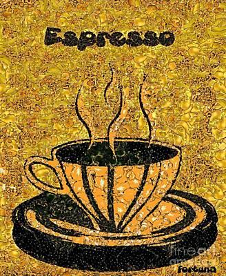 Mosaic Painting - Espresso by Dragica  Micki Fortuna