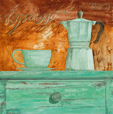 Italian Wall Art - Painting - Espresso by Guido Borelli