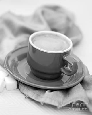 Espresso In Black And White Art Print by Iris Richardson