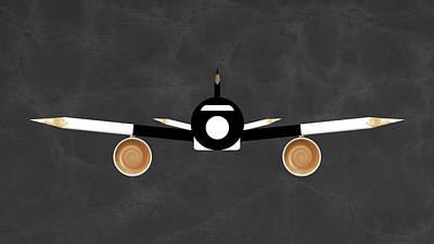 Pencil Photograph - Espresso Jet by Udo Dittmann