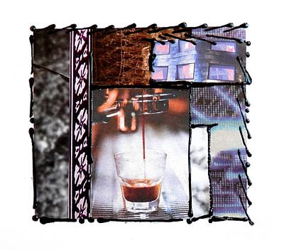 Mixed Media - Espresso by L Cecka