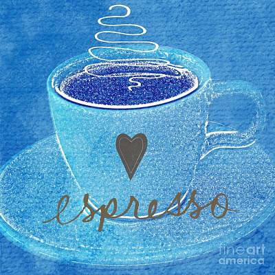 Swirling Painting - Espresso by Linda Woods
