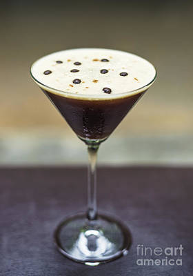 Martini Royalty-Free and Rights-Managed Images - Espresso Martini Alcoholic Cocktail Drink  by Jacek Malipan