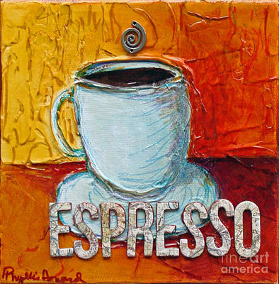 Bistro Mixed Media - Espresso by Phyllis Howard