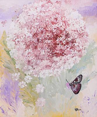 Essaim De Fleurs Art Print