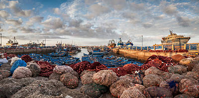 Photograph - Essaouira Harbour by Michael Avory