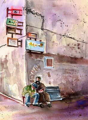 Painting - Essaouira Street Corner by Miki De Goodaboom